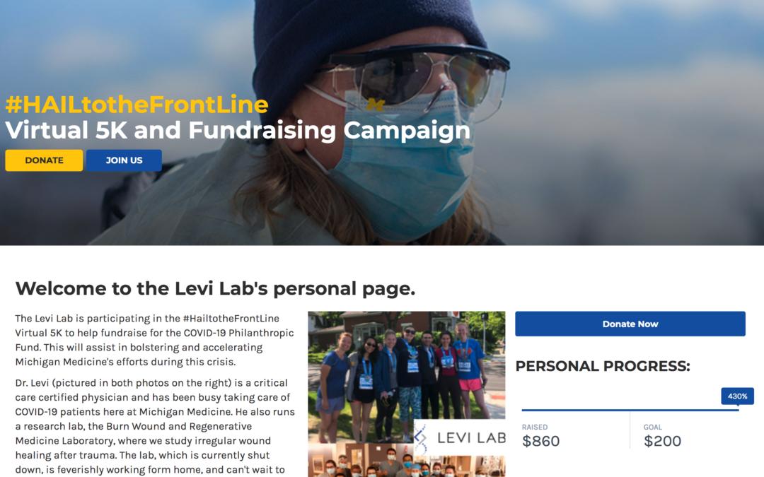 #HAILtotheFrontLine Virtual 5K Fundraising